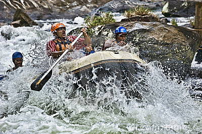 White water rafting in Sri Lanka Editorial Image