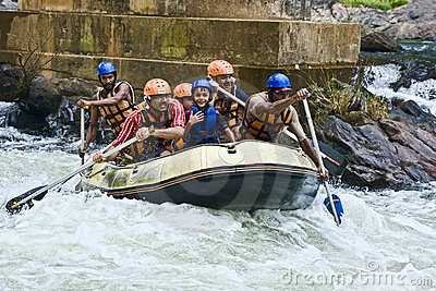 White water rafting in Sri Lanka Editorial Stock Photo