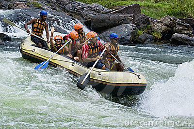 White water rafting in Sri Lanka Editorial Photo