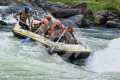 White water rafting in Sri Lanka Editorial Photo