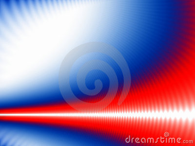 White wave on blue and red