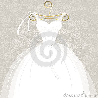 Free White Wedding Gown Royalty Free Stock Photo - 36857425