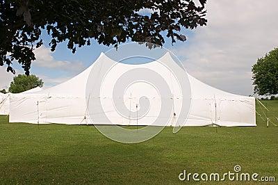 White wedding party tent