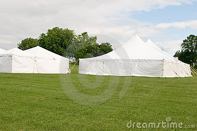 White wedding party tents