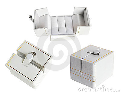 White wedding ring box set