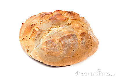 White wheat round bread
