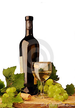 Free White Wine And Grapes Stock Photo - 6583400