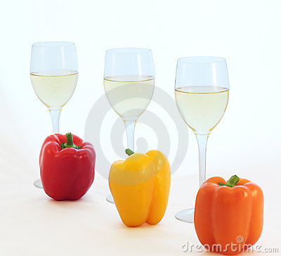 White Wine and Bell Peppers