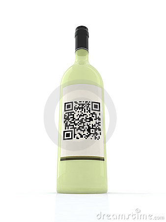 Free White Wine Bottle Stock Photography - 19914392
