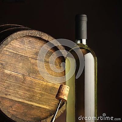 Free White Wine Bottle Royalty Free Stock Photography - 22489767