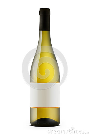 Free White Wine Bottle Stock Images - 42625584