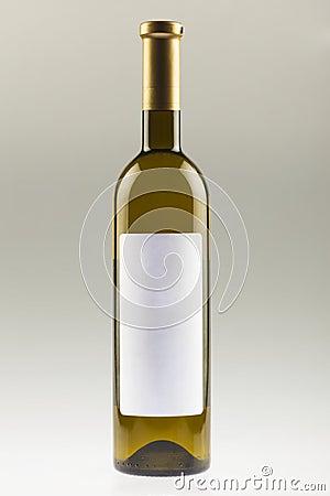 White Wine Bottle With Empty Label Stock Photo - Image ...