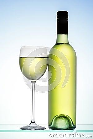 White Wine Bottle Glass