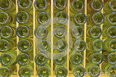White wine bottles