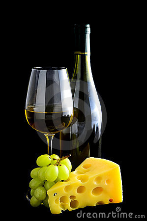 White wine and cheese