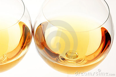 White wine close-up