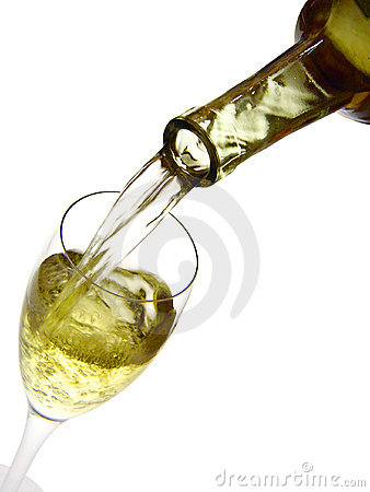 White wine and a glass