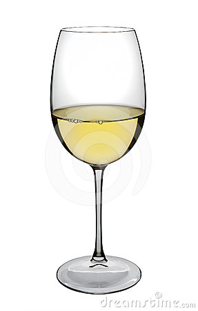 White wine glass, isolated