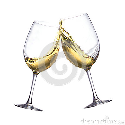 Free White Wine Glasses Stock Photo - 40221530