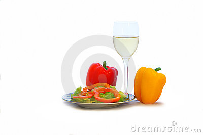 White Wine and Green Salad