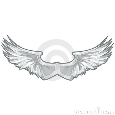 White Wings with clipping path