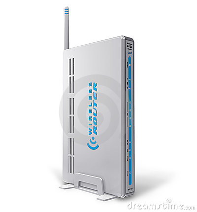 White wireless ADSL router