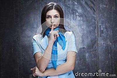 White woman gesturing