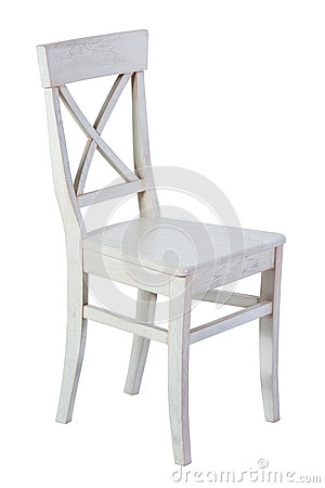 Free White Wooden Chair Isolated Royalty Free Stock Images - 91546069