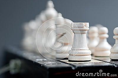 White wooden chess