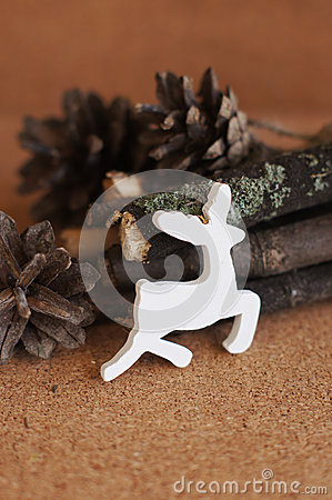 White wooden deer