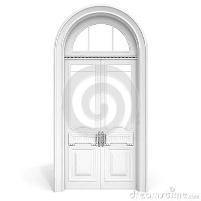 Free White Wooden Door Soft Shadow Stock Photos - 25364823