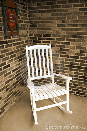 Free White Wooden Rocking Chair Royalty Free Stock Photo - 284965
