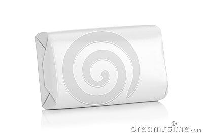 White wrap box package