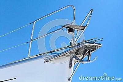 White yacht bow fragment
