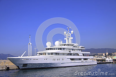 A white yacht in Cannes