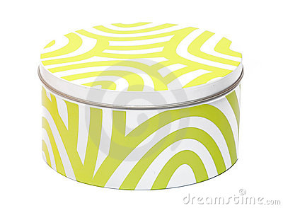 White-yellow container