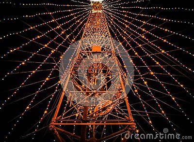 White Yellow Filled Light Ferris Wheel Free Public Domain Cc0 Image