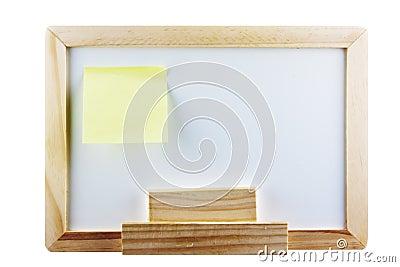 Whiteboard mit Post-Itanmerkung