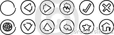 Whiteboard navigation icons