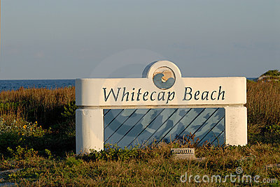 Whitecap beach Padre Island Editorial Stock Image