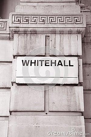 Whitehall Street Sign, London