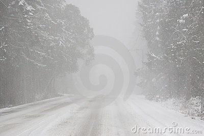 Whiteout driving conditions