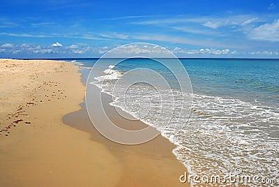 Whitewash on tropical caribbean beach