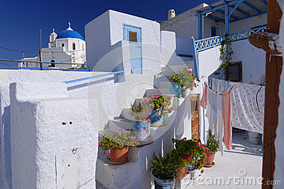 Whitewashed buildings of Santorini