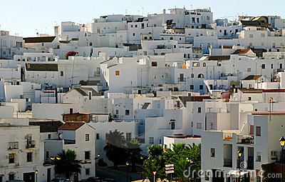 Whitewashed Spanish village