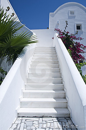 Whitewashed Steps