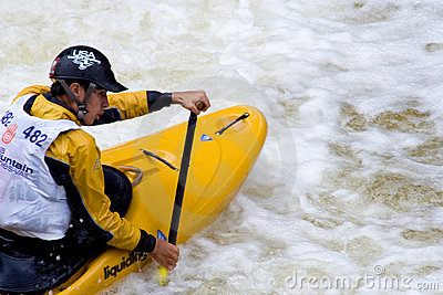 Whitewater Kayaker Editorial Stock Photo