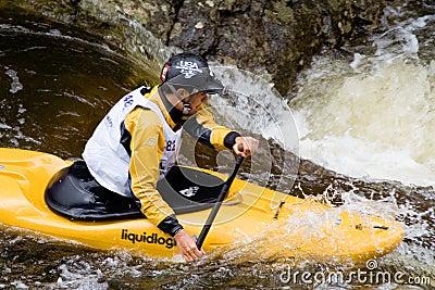 Whitewater Kayaker Editorial Stock Image