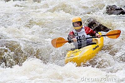 Whitewater Kayaker Editorial Stock Photo
