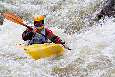 Whitewater Kayaker Editorial Photography